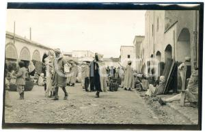 1920 ca BISKRA (ALGERIA) COSTUMI - Mercato tradizionale (6) - Foto 14x9 cm