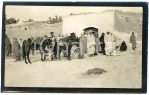 1920 ca ALGERIA - Gruppo di uomini in un villaggio (2) Foto VINTAGE 14x9 cm