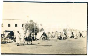 1920 ca BISKRA (ALGERIA) COSTUMI - Mercato tradizionale (5) - Foto 14x9 cm