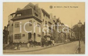 1910 ca UCCLE (BELGIQUE) Rue H. Van Zuylen - ANIMATED old postcard