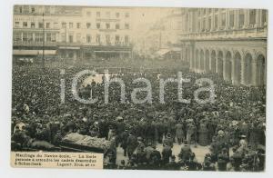 1906 BRUXELLES Naufrage Navire-école - Foule attend les cadets *Carte postale