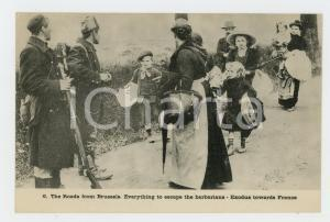 1915 ca WW1 The Roads from BRUSSELS - Exodus towards France - Postcard