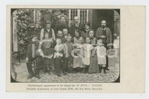 1914 WW1 BRUXELLES Réfugiés hospitalisés au local SAINTE ZITE - Carte postale