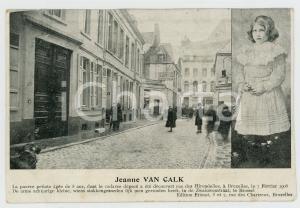 1906 BRUXELLES Jeanne VAN CALK enfant assassinée - Carte postale CPA