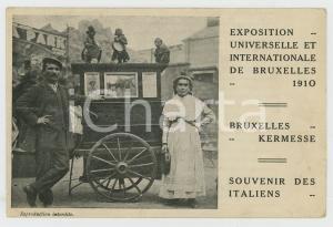 1910 BRUXELLES Exposition Universelle - Italiens - DAMAGED RARE postcard