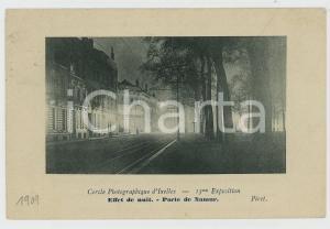 1909 IXELLES Cercle Photographique - Effet de nuit - Port de Namur Carte postale