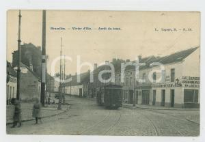 1906 BRUXELLES Vivier d'Oie - Arrêt du tram - Café Bourgeois - Carte postale FP