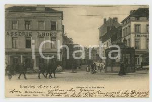 1903 BRUXELLES Entrée de la Rue Haute - Brasserie LHOST Carte postale FP VG