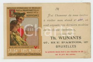 1908 EXPOSITION DE BRUXELLES Salon des Arts & Métiers - Th. WIJNANTS - Postcard