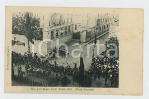 1905 BRUXELLES Place Poelaert - Fête patriotique du 21 Juillet - Carte postale