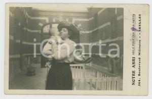 1910 ca IXELLES (B) NOTRE ABRI Asile pour les petits - Carte postale RPPC (1)
