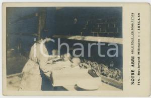 1910 ca IXELLES (B) NOTRE ABRI Asile pour les petits - Carte postale RPPC (2)