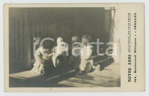 1910 ca IXELLES (B) NOTRE ABRI Asile pour les petits - Carte postale RPPC (3)