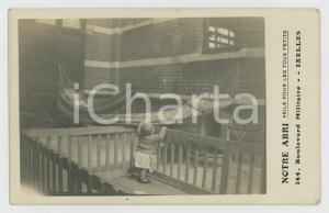 1910 ca IXELLES (B) NOTRE ABRI Asile pour les petits - Carte postale RPPC (4)