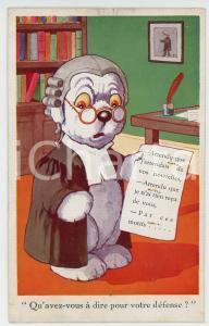 1910 ca ANIMALS Dog-lawyer ANTHROPOMORPHIC Postcard FP VG