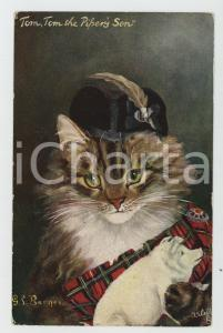 1920 ca CAT STUDIES - Tom, Tom the Piper's Son - Old Vintage Postcard TUCK'S