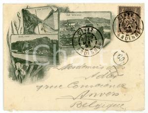 1898 GIVET (ARDENNES) Vue Charlemont - Grand Quartier *Enveloppe ILLUSTREE VIDE
