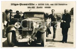 1929 RALLY RIGA-DEAUVILLE 48 hours 2726 km - Driver and car *RARE RPPC postcard