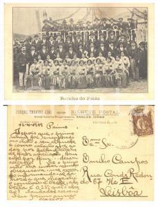 1919 FIGUEIRA DA FOZ Parque-Teatro-Cine - Rancho do Paião ^Postcard Carlos IDAES