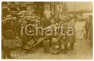 1918 BERLIN Revolutionstagen - Strassenszene - RARE Postcard RPPC