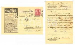 1913 LEIPZIG Illustierte Briefmarken Journal - Adv old postcard