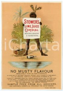 1910 ca UK STOWER'S Lime Juice Cordial - Original advert 13x20 cm