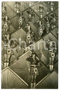 1950 ca PARIS Folies Bergère - Dancers in Scottish dress *Photo