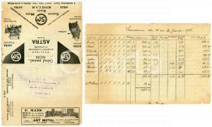 1938 BRUXELLES Envelope advert ASTRA machine à additionner - F. MAES art metal