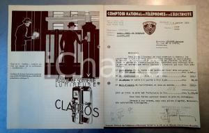 1938 BRUXELLES Lettre Comptoir National Téléphones adv CLAIRVOX