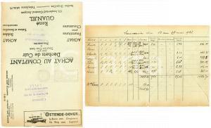 1938 BRUXELLES René QUANJEL Achat cuir - fournitures *Envelope adv OSTENDE-DOVER