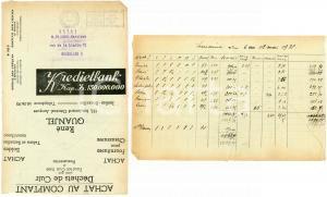 1938 BRUXELLES René QUANJEL Achat cuir - fournitures *Envelope adv KREDIETBANK