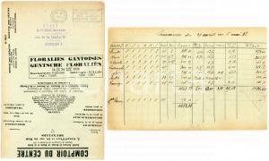 1938 BRUXELLES Comptoir du Centre - Envelope adv Floralien Gantoises