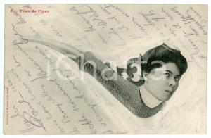 1904 HUMOUR Têtes de pipes n. 6 - Carte postale FP VG