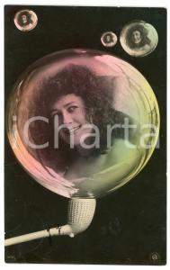 1905 LOVERS Lady in a soap bubble - Postcard FP VG