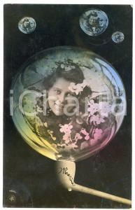 1906 LOVERS Lady in a soap bubble - Postcard FP VG (4)