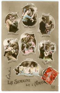 1913 LES AMOUREUX La semaine de l'amour - Carte postale FP VG
