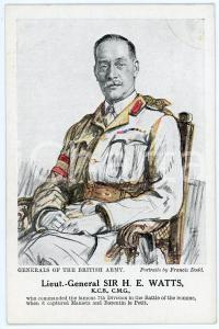 1910 ca Artist Francis DODD - Generals of the British army - Sir H. E. WATTS