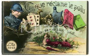 1910 ca LOVERS - Ce que réclame le poilu mais par dessus tout... - Carte postale