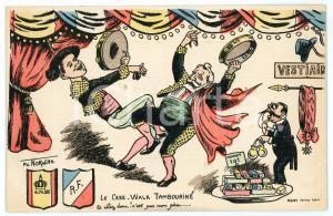 1905 ca SATIRE Le Cake-Walk Tambourine - Artiste Philippe NORWINS *Carte Postale