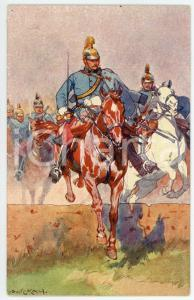 1900 ca Artist Ludwig KOCH - Austro-Hungarian Army - Cavalry (1) - Postcard