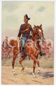 1900 ca Artist Ludwig KOCH - Austro-Hungarian Army - Cavalry (2) - Postcard