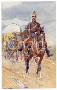 1900 ca Artist Ludwig KOCH - Austro-Hungarian Army - Cavalry (3) - Postcard