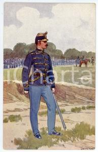 1900 ca Artist Ludwig KOCH - Austro-Hungarian Army - Infantry (2) - Postcard