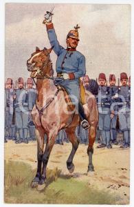 1900 ca Artist Ludwig KOCH - Austro-Hungarian Army - Cavalry (4) - Postcard