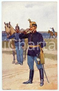 1900 ca Artist Ludwig KOCH - Austro-Hungarian Army - Infantry (3) - Postcard