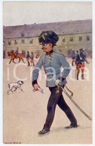 1900 ca Artist Ludwig KOCH - Austro-Hungarian Army - Infantry (4) - Postcard