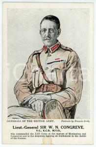 1910 ca Artist Francis DODD - Generals of the British army - Sir W. N. CONGREVE