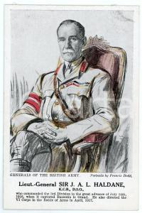 1910 ca Artist Francis DODD - Generals of the British army - J. A. L. HALDANE