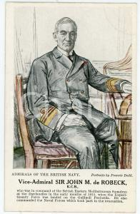 1910 ca Artist Francis DODD - Admirals of the British Navy - John M. de ROBECK