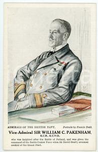 1910 ca Artist Francis DODD - Admirals of the British Navy - William C. PAKENHAM